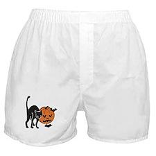 Halloween Cat, Pumpkin, Bats Boxer Shorts