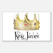 King James Rectangle Decal