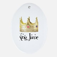 King James Oval Ornament