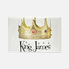 King James Rectangle Magnet