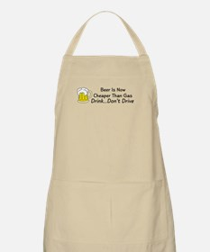 Beer is Now Cheaper Than Gas BBQ Apron