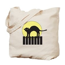 Hissing at Ghosts Tote Bag