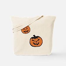 Two Halloween Pumpkins Tote Bag