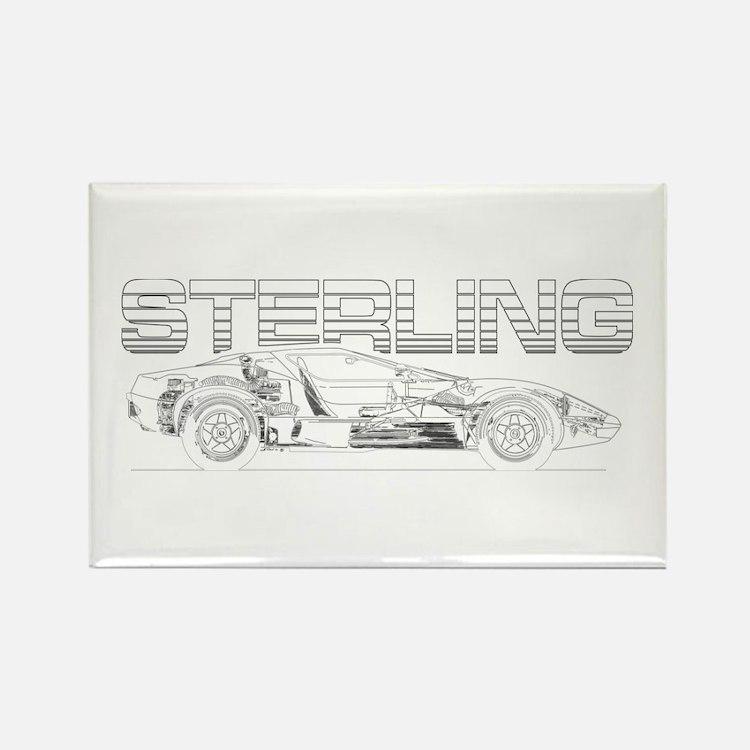 Sterling sketch bw Magnets