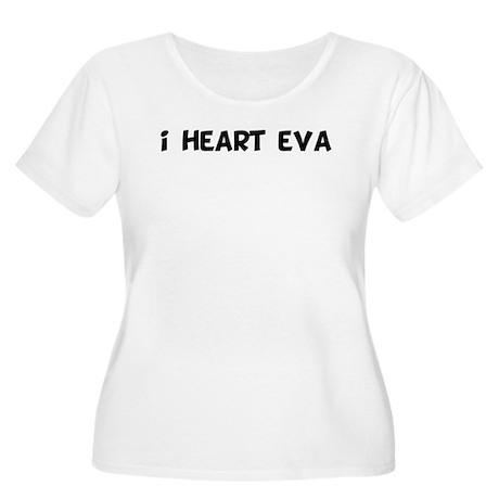 i heart eva Women's Plus Size Scoop Neck T-Shirt