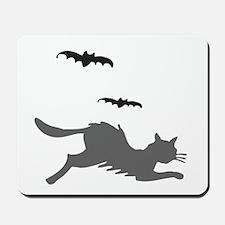 Black Cat and Bats Mousepad