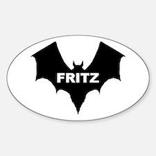 BLACK BAT FRITZ Oval Decal