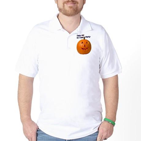 Party Pumpkin Face Golf Shirt