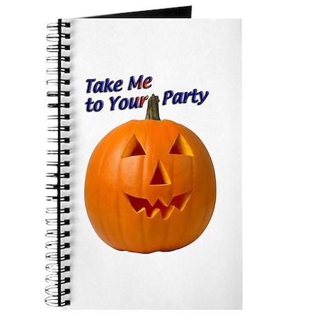 Party Pumpkin Face Journal