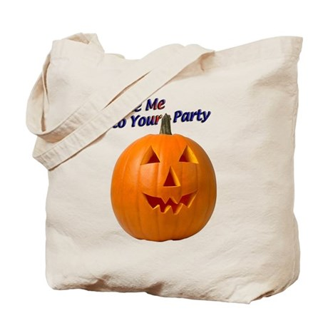 Party Pumpkin Face Tote Bag