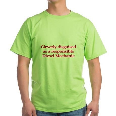 Diesel Mechanic Green T-Shirt