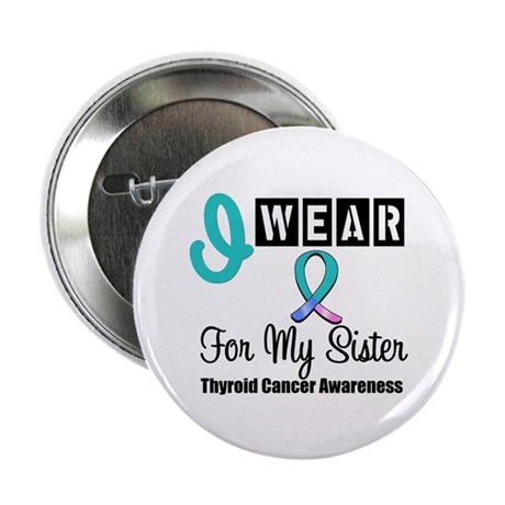 "Thyroid Cancer Ribbon 2.25"" Button"