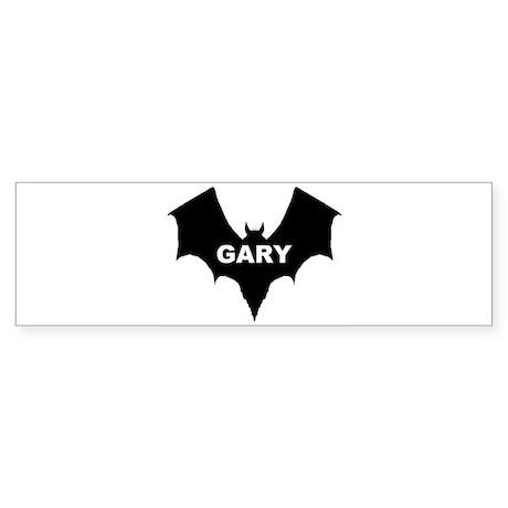 BLACK BAT GARY Bumper Sticker