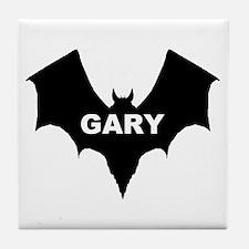 BLACK BAT GARY Tile Coaster