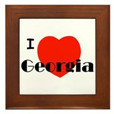 I Love Georgia! Framed Tile