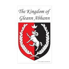 Kingdom of Gleann Abhann Rectangle Sticker 50 pk)