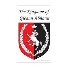 Kingdom of Gleann Abhann Rectangle Decal