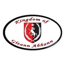 Kingdom of Gleann Abhann Oval Sticker