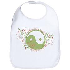 Pretty Yin-Yang Symbol : Green/Coral Bib