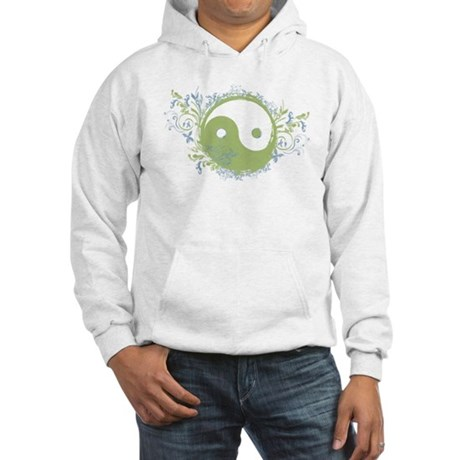 Pretty Yin-Yang Symbol : Green/Blue Hooded Sweatsh