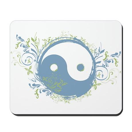 Pretty Yin-Yang Symbol : Blue/Green Mousepad
