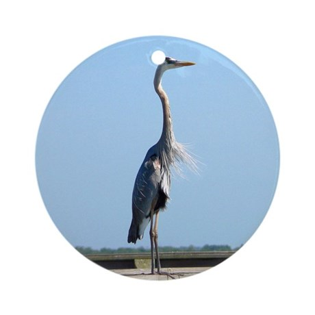 Great Blue Heron Ornament (Round)