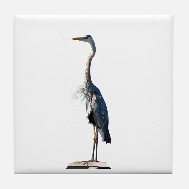 Great Blue Heron #2 Tile Coaster