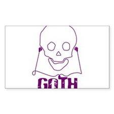 Goth Music Rectangle Decal