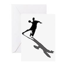 Handball Player Greeting Cards (Pk of 20)