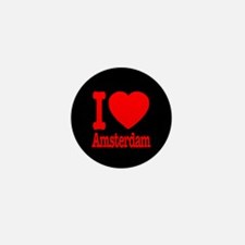 I Love Amsterdam Mini Button (10 pack)