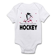 Going to play Ice Hockey Baby Infant Bodysuit