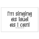 Fat Lady Sings Large Poster