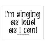 Fat Lady Sings Small Poster