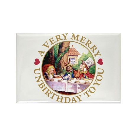 A VERY MERRY UNBIRTHDAY Rectangle Magnet (10 pack)