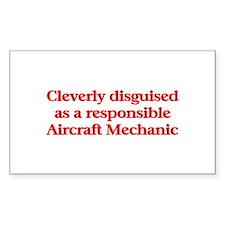 Aircraft Mechanic Rectangle Sticker 10 pk)