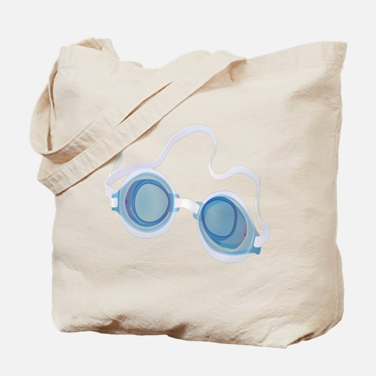 Swimming Goggles Tote Bag