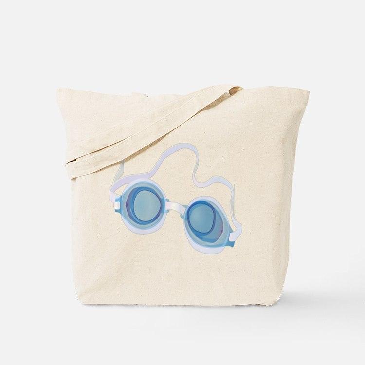 Swimming Goggles Tote Bag