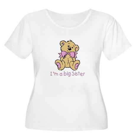Baby Bear Big Sister Women's Plus Size Scoop Neck