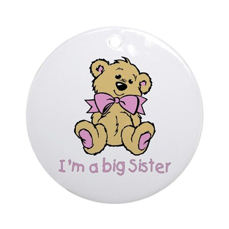 Baby Bear Big Sister Ornament (Round)