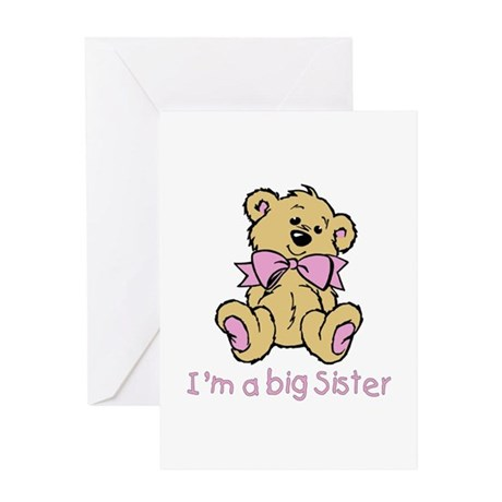 Baby Bear Big Sister Greeting Card