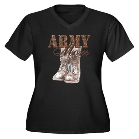 Army Mom Combat Boots N Dog Tags Women's Plus Size