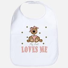 My Aunt Loves Me Bear Baby Infant Toddler Bib