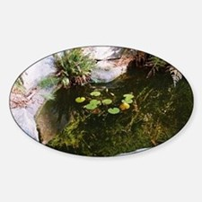 Sally's Japanese Garden Lily Pond Oval Decal