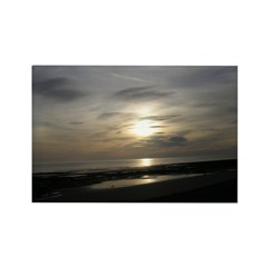 Walney Beach at dusk Rectangle Magnet