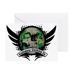 Skulls rule the planet, Stale Greeting Cards (Pk o