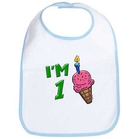 """""""I'm 1"""" Ice Cream Cone Bib"""