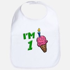 """I'm 1"" Ice Cream Cone Bib"