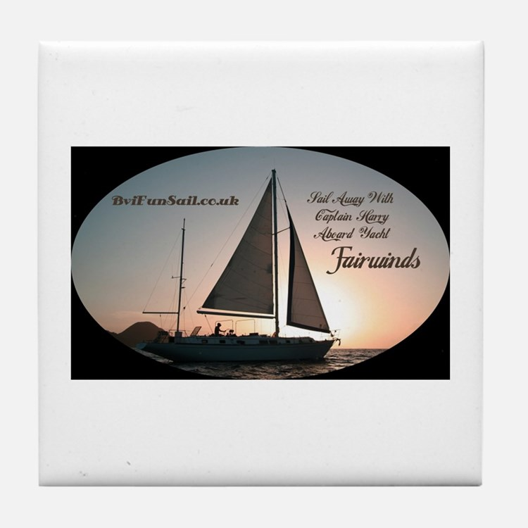Cute Bvi sailing Tile Coaster