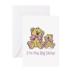 Baby Bear I'm The Big Sister Greeting Card