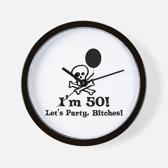 50th Birthday Party Wall Clock